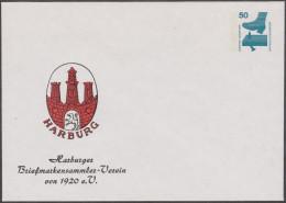 Allemagne 1976. Privatganzsache, Entier Postal Timbré Sur Commande. Hamburger Briefmarkensammler-Verein - Enveloppes