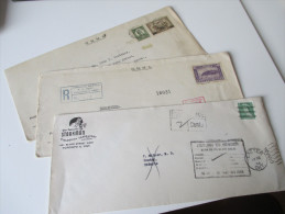 3 Belege OHMS Und 1954 Return To Sender. Financial Branch. Interessante Belege Mit Vielen Stempeln!! - Cartas