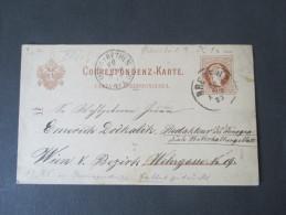 """Österreich GA 1877 Nr. P 27 Ital. Mit Aufdruckfehler?! Rarität?? """"RI"""" In Corrispondenza Fett Gedruckt. - Entiers Postaux"""