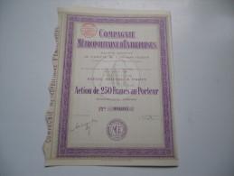 COMPAGNIE METROPOLITAINE D'ENTREPRISES (1926) - Shareholdings