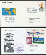 1984 Brazil Germany Lufthansa First Flight Erstflug (2) - Luchtpost