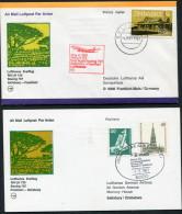 1981 Zimbabwe Germany Salisbury - Frankfurt - Salisbury Lufthansa First Flight Erstflug (2) - Zimbabwe (1980-...)