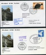 1984 Russia Moscow - Leningrad - Moscow Lufthansa First Flight Erstflug (2) - 1923-1991 URSS