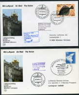 1984 Russia Moscow - Leningrad - Moscow Lufthansa First Flight Erstflug (2) - Lettres & Documents