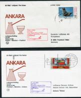 1983 Turkey Germany Ankara - Frankfurt - Ankara Lufthansa First Flight Erstflug (2) - 1921-... Republic