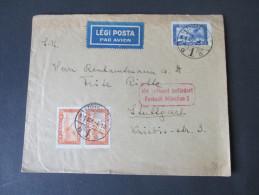 Ungarn 1931 Mit Luftpost Befördert Postamt München 2. MiF. Schöner Beleg!!