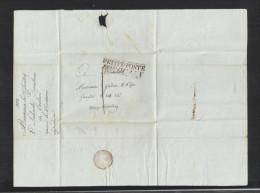 Lettre 1808 Petite Poste Bordeaux - Poststempel (Briefe)