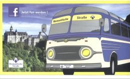 Romantische Strasse. Reisebus. Grösse: 235 X 125 Mm. Romantic Road. Route Romantique. Autocar. - Allemagne