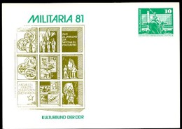 DDR PP16 C1/013a Privat-Postkarte MILITARIA Berlin 1981