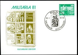 DDR PP16 C1/013a Privat-Postkarte MILITARIA Sost.1 Berlin 1981
