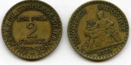 France 2 Francs 1925 GAD 533 KM 877 - I. 2 Francs