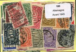 Lot 100 Timbres Allemagne Avant 1945 - Timbres