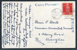1940 Japan Nikko Kanaya Hotel Postcard - German Consulate Deutsche Shanghai China - Covers & Documents