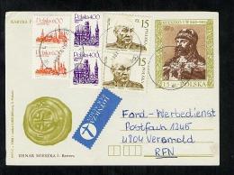 Poland Postal Stationery Post Card Used 1989 Wlen (B376) - Ganzsachen
