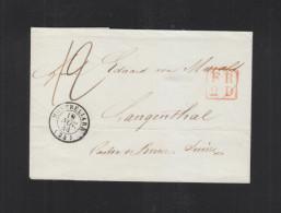 Lettre 1848 Montbeliard Pour La Suisse - Marcophilie (Lettres)
