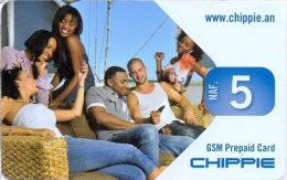 CURACAO : NAF 5  CHIPPIE  Selfie On Boat   Used - Antilles (Netherlands)