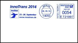 Bund / Germany: Stempel 'InnoTrans [Messe Für Verkehr], 2014' / Cancel 'Transport Fair', 14050 Berlin - Other (Earth)