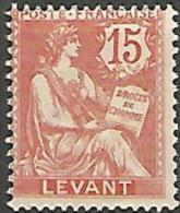 LEVANT YVERT  N� 15 NEUF* TB