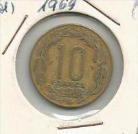 D6 Cameroon Cameroun 10 Francs 1969. - Cameroun