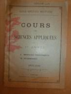 1925-1926     Ecole Spéciale Militaire De St-Cyr    COURS De SCIENCES APPLIQUEES (Moteurs Thermiques Et Automobiles) - Documents
