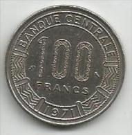 Cameroon Cameroun 100 Francs 1971. - Cameroun