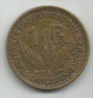 Cameroon Cameroun 1 Franc 1925. - Cameroun
