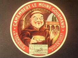 37012 - étiquette De Fromage - LE MOINE GOURMAND - MARIUS FOUQUET A LUZE - Indre Et Loire 37 - Quesos