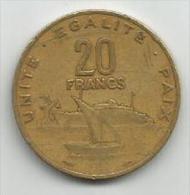 Djibouti 20 Francs 1982. - Djibouti