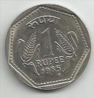 India 1 Rupee 1985. - Inde