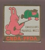 37723-Pin's.CNDA-PPDA.Cha sse..animaux.lapin