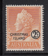 Christmas Island MH Scott #1 2c Queen Elizabeth II - Christmas Island