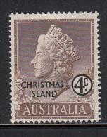 Christmas Island MH Scott #2 4c Queen Elizabeth II - Christmas Island