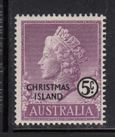 Christmas Island MH Scott #3 5c Queen Elizabeth II - Christmas Island