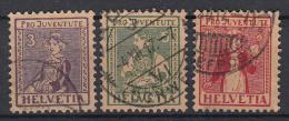 ZWITSERLAND - Michel - 1915 - Nr 133/35 - Gest/Obl/Us - Usados