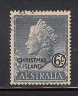 Christmas Island Used Scott #4 6c Queen Elizabeth II - Christmas Island