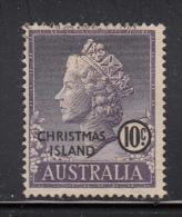 Christmas Island Used Scott #6 10c Queen Elizabeth II - Christmas Island