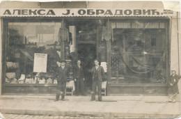 SHOP, STORE, Magasin,TRGOVINSKA RADNJA, PRODAVNICA, - ALEKSA J. OBRADOVIC I KOMP.- , SRBIJA, SERBIA, Vintage Old Photo - Altri