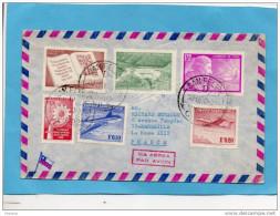Marcophilie- Lettre Avion -CHILI  -Cad 1970- 6 Stamps Jet Comet+scorpion-pour Françe - Chile