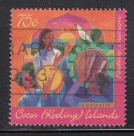 Cocos Islands Used Scott #317 75c Drum Beaters Celebrate Hari Raya Puasa - Festive Season - Musique