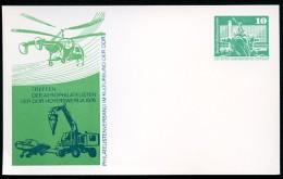 DDR PP16 C2/011a Privat-Postkarte AEROPHILATELISTEN Hoyerswerda 1976 - [6] Repubblica Democratica