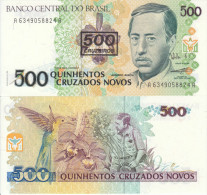 BRASILE BRASIL BRAZIL 500 CRUZEIROS ON 500 CRUZADOS NOVOS 1990 FDS UNC - Brazil
