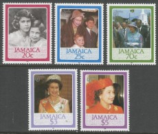 Jamaica. 1986 60th Birthday Of Queen Elizabeth II. MH Complete Set. SG 646-50 - Jamaica (1962-...)