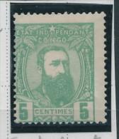 CONGO BELGE Seconde Emission 1887 - 1 TP à 5 Centimes Neuf , VARIETE Trait Reliant TA De Etat --  C2/770 - 1884-1894 Vorläufer & Leopold II.
