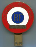 M99 COCARDE DE CALANDRE CONSEIL REGIONAL FRANCHE COMTE 80 MM