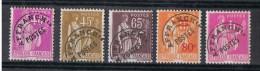 FR-Préo 8 - FRANCE Préoblitérés N° 70/71/73/74/76 Neufs*  Type Paix - Precancels