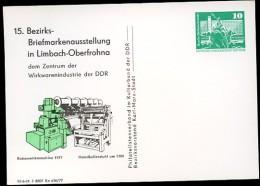 KETTENWIRKMASCHINE DDR PP16 C2/014 Privat-Postkarte Limbach-Oberfrohna 1977 - Textil