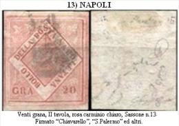 Napoli-F00013 - 1858 - Francobollo Da 20 Grana - Naples