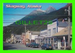 SKAGWAY, ALASKA - BROADWAY IN SKAGWAY, YIELDS MANY HISTORIC BUILDINGS - PHOTO, MICHAEL ANDERSON - ALASKA CARD - - United States