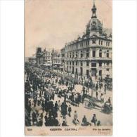 SDMTP0664C-LFTD3003TTSC.TARJETA POSTAL DE BRASIL.Avenida Central,coches Carros,personas,edificios De RIO DE JANEIRO,1903 - Postales