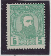 CONGO BELGE Seconde Emission 1887 - 1 TP à 5 Centimes Neuf , VARIETE Mèche Massive --  C2/772 - 1884-1894 Vorläufer & Leopold II.